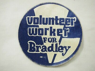Volunteer Worker for Tom Bradley California Campaign Fabric Sticker 1982