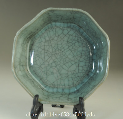Old chinese natural cracked glaze Longquan cyan porcelain brush washer /Db01