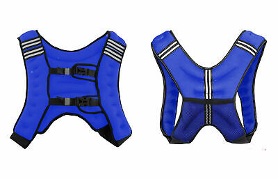 XN8 8 Kg Weighted Vest Adjustable Jacket Running Weight Loss Gym Fitness Blue