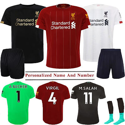 19/20 Football Full Kits Kids Boys Youth Soccer Sports Suit Jersey Outfits+Socks
