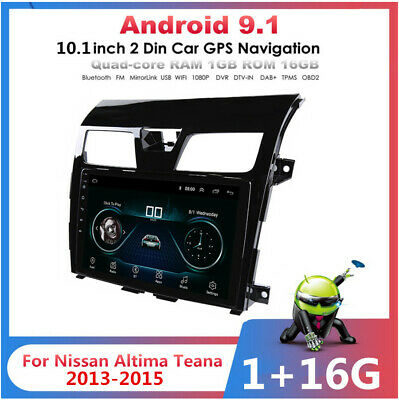 10.1'' Android 9.1 Car Stereo Radio GPS For Nissan Teana Altima 2013-16 + Canbus