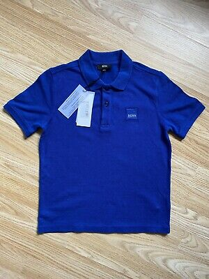 Boys Blue Hugo Boss Polo Top Age 8 Bnwt