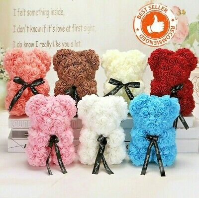 Rose Teddy Bear 25cm  Foam Flower Wedding Valentines Birthday Girlfriend Gift
