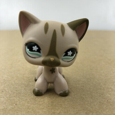 Littlest Pet Shop LPS #468 Brown Cat Kitty Doll Rare Collection Toy Gift For Kid