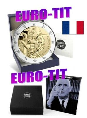 2  EURO  FRANCE COMMEMORATIVE  2020   BE  CHARLES  DE  GAULLE 2020    disponible