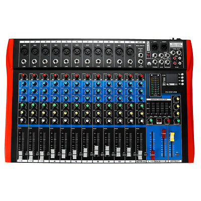 12 Channel bluetooth Audio Mixer USB Professional Digital 48V Live Studio Mixer