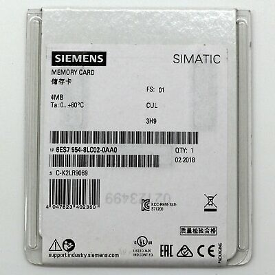 6ES7954-8LC02-0AA0 1PC New Siemens 4MB Memory Card free ship 6ES7 954-8LC02-0AA0