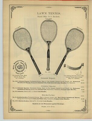 WRIGHT /& DITSON MANUFACTURERS OF FINE LAWN-TENNIS RACKET SEARS SPECIAL BOSTON