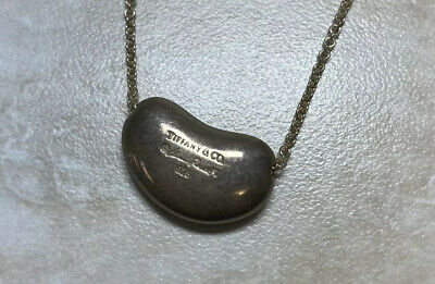 Authentic Tiffany & Co Sterling 925 Silver Elsa Peretti  Bean Necklace
