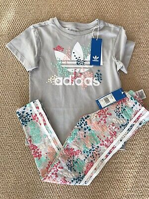 Girls Adidas T-Shirt & Leggings - Age 7-8 - BNWT