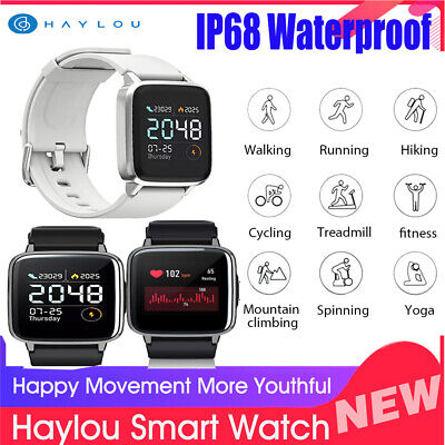 Global Xiaomi Haylou LS01 Smart Watch Heart Rate Monitor Sleep Management N2Y9