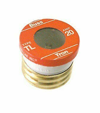 Bussman BP/TL-20 20 Amp Time Delay Plug Fuses 3 Count