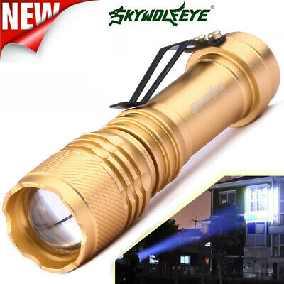 Q5 AA/14500 3 Modes ZOOMABLE LED Flashlights Torch Super Bright NEW