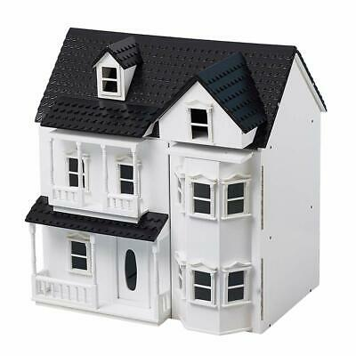 HILIROOM Wooden Dolls House Cottage Victorian Kids Gift Doll House - UK STOCK