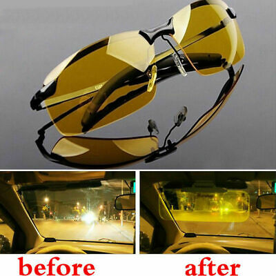 Night Driving Glasses HD Anti Glare Vision Polarized Yellow Lens Tinted Unisex