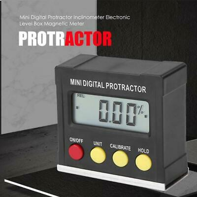 Magnetic Base LCD Digital Protractor Angle Gauge Finder Inclinometer Level Box
