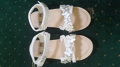 Next Girls White Sandals Size 12 Worn Once In the House