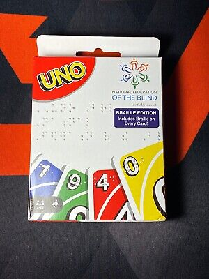 Uno Mattel EXCLUSIVE Braille Edition Card Game. National Federation of the Blind