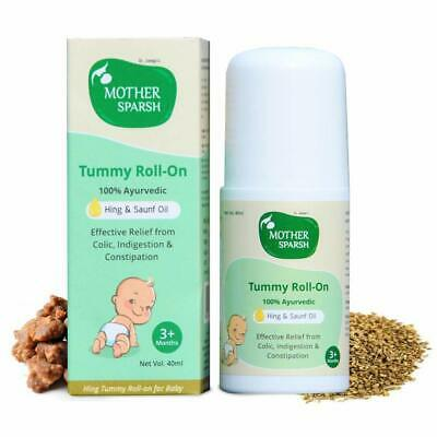 Mother Sparsh Tummy Roll On for Baby, Colic Relief and Digestion, 100% Ayurvedic