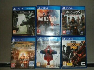 Joblot Of Six  Ps4 Games The Last Guardian Etc All Listed Sony Playstation Four