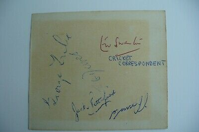 Cricket Autographs E W Swanton Rohan Kanhai Colin Cowdrey Denis Compton & Others