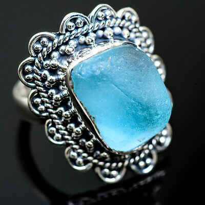 Aquamarine 925 Sterling Silver Ring Size 6.5 Ana Co Jewelry R989333F