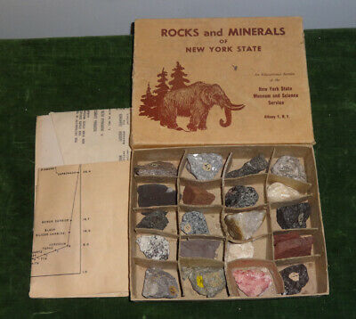 Vintage Box of Rocks & Minerals from New York State