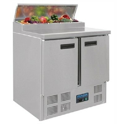 Polar Refrigerated Pizza and Salad Prep Counter 254 Litre  - G604   Commercial