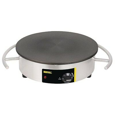 Buffalo Electric Crepe Maker Cooking Surface 410mm CC039  Catering Stainless