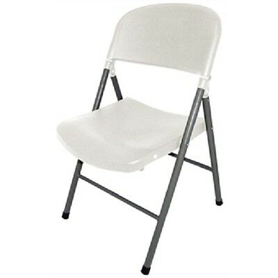 Bolero White Foldaway Utility Chair (Pack of 2) Catering Garden Folding CE692