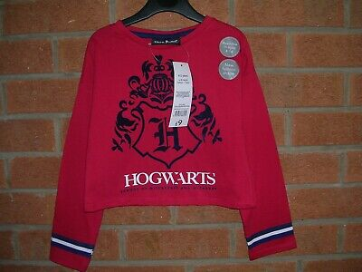 BNWT HARRY POTTER Girls Red Cotton T-Shirt Blouse Top Age 4-5 110cm NEW