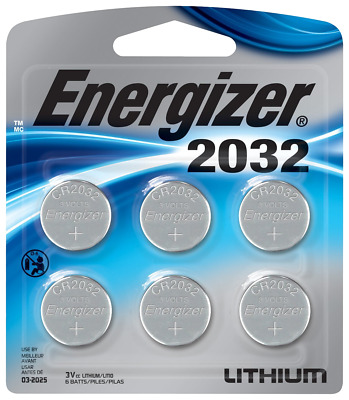 Energizer 2032BP-6 Coin Cell Battery 6 Pack