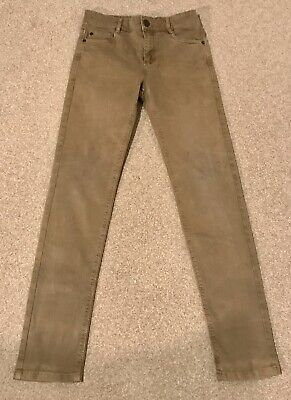 Next Boys Oatmeal Jeans Ajustable Waist Age 11 Yrs