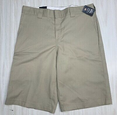 """NEW Dickies Mens 13"""" Inseam Flex Relaxed Fit Work Shorts Khaki Size 36 NWT"""