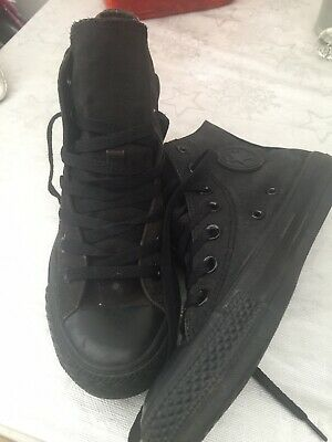 Converse all star high tops Boys Youth Girls Womans black size 4.5 Good Con