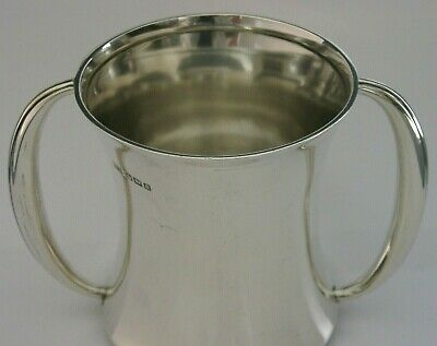 UNUSUAL ARTS & CRAFTS STERLING SILVER MUG or CUP 1912 ANTIQUE HEAVY 170g