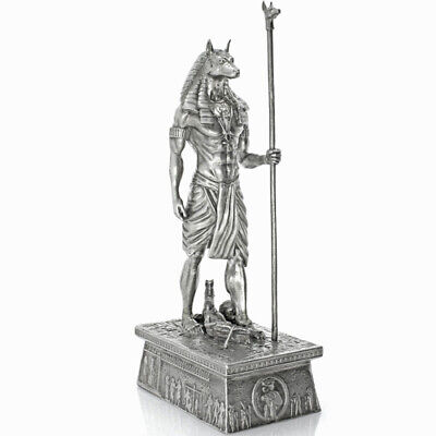Stunning 13 oz Silver Egyptian Ancient God Anubis Deity Antique Finish 3D Statue