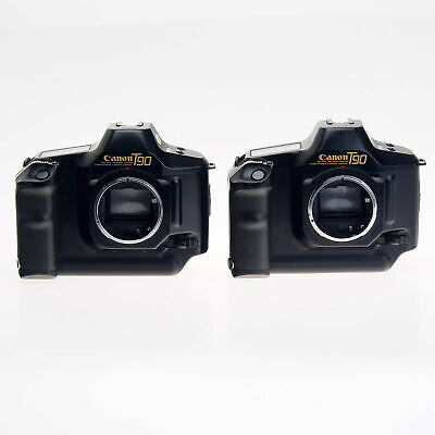 AS-IS Lot Of 2 Canon T90 35mm Film SLR Cameras With Accessories