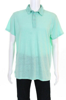 Les Canebiers Mens Cabanon Textured Short Sleeve Polo Shirt Light Blue Size 5XL
