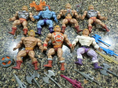 1980s he-man masters of the universe toy lot
