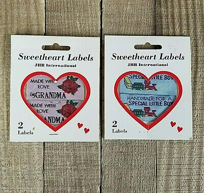 Sweetheart Labels JHB International Sewing Labels New In Package set of 2