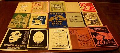 15 Vintage Magic Trick Booklets Rope Handkerchief Silk Ball+ Tricks Books Lot #1