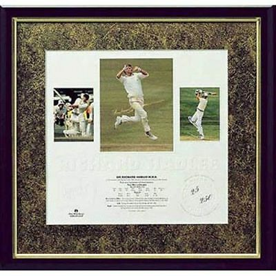 Sir Richard Hadlee New Zealand Cricket Hand Signed Framed Limited Print Bradman