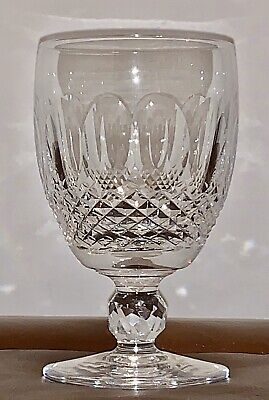 """Waterford Irish Cut Thumbprint Crystal Colleen Water Goblet Glass 5 1/4"""" VGC #5"""