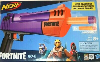New NERF E7510 Fortnite HC-E Mega 3 Darts Blaster Gun Front Load 8+