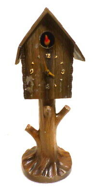 Unusual Metal Bird House Clock Circa 1920's