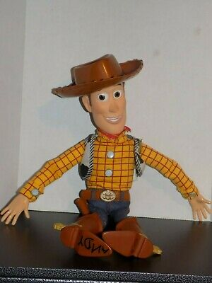 "Disney Toy Story 3 Talking Pull string Cowboy Woody 16"" High With Hat store buzz"