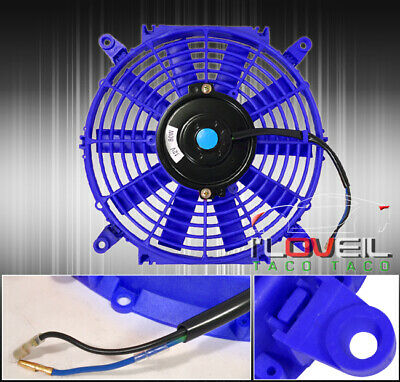 "For Chevy 10"" Eletric Fan 1500 Cfm 2250 Rpm 12V Cooling Engine Radiator 12V Blue"
