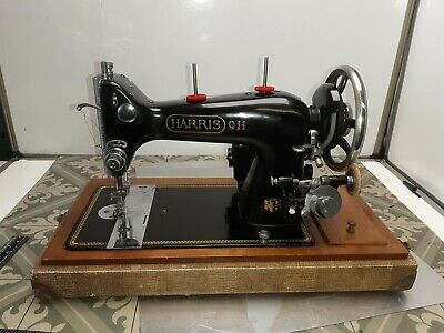 Vintage Harris 9H sewing machine Lotcol9844 Untested missing foot pedal