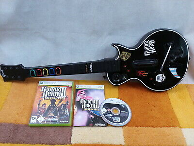 Guitar Hero III 3 Legends Of Rock +Gitarrencontroller / Wireless Gitarre Xbox360